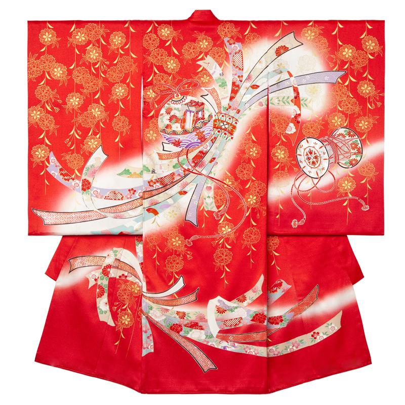 お宮参り 女の子の着物 10