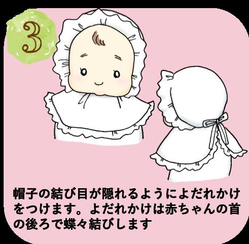 お宮参り着物着せ方3