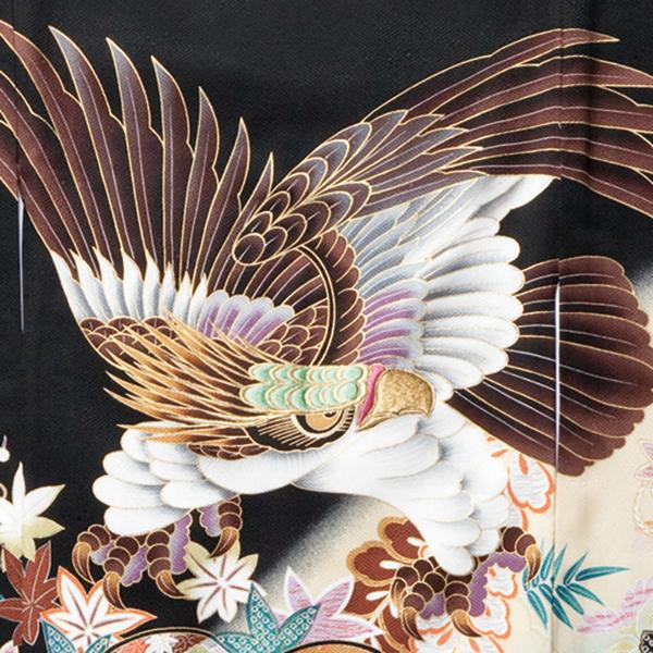 お宮参り男の子着物の柄 鷹