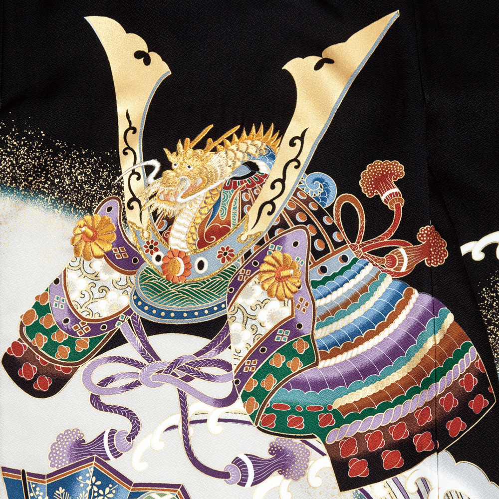 お宮参り男の子着物の柄 兜