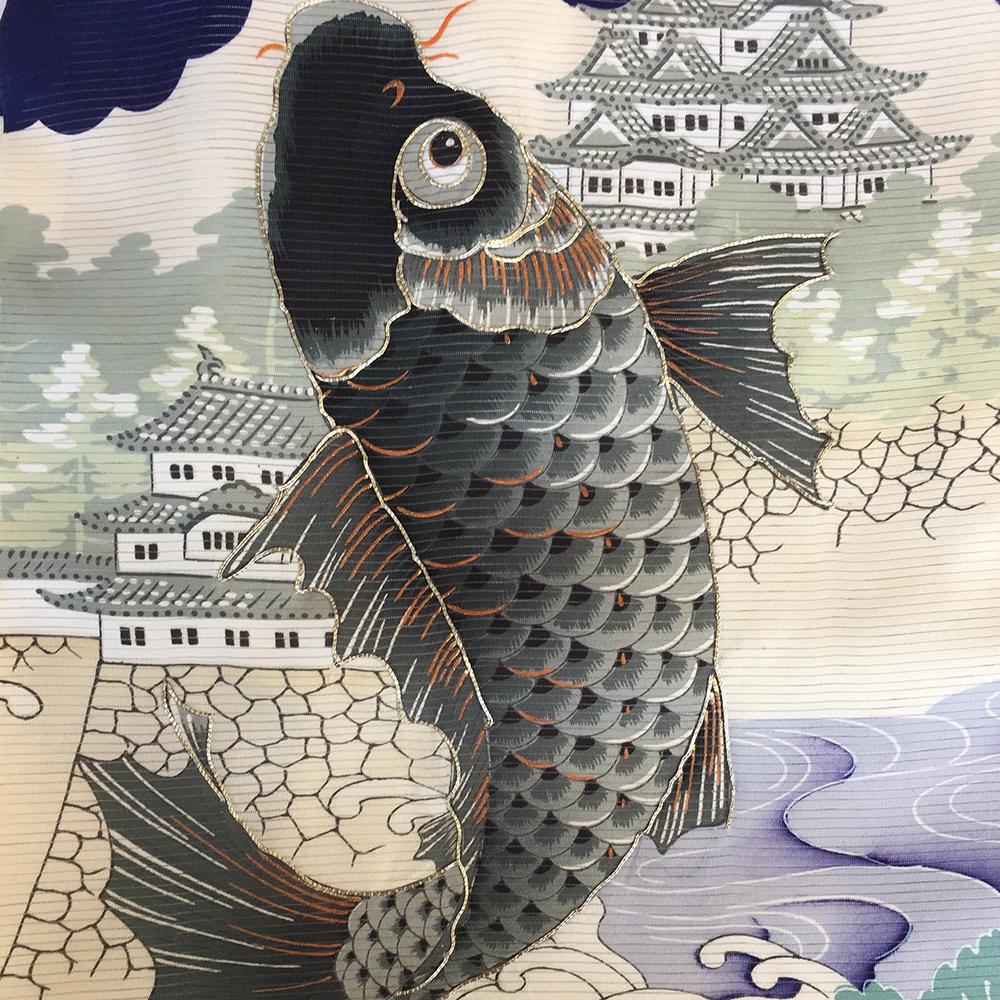 お宮参り男の子着物の柄 鯉