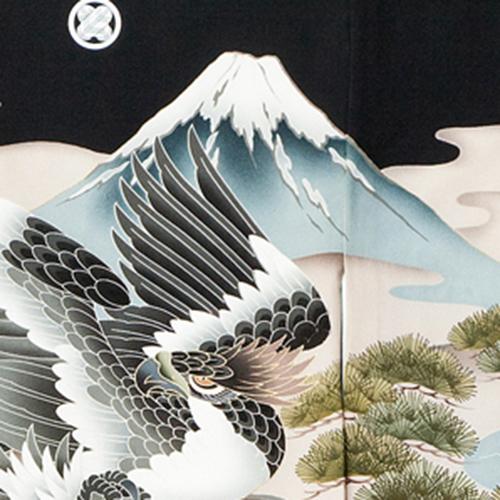 お宮参り男の子着物の柄 富士山