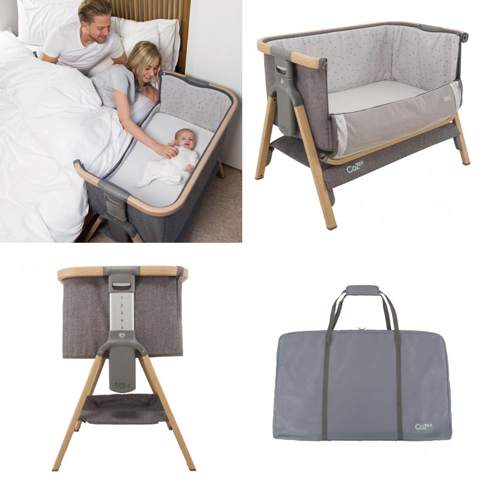 ママのベッドと並んで寝られるから安心なベビーベッド