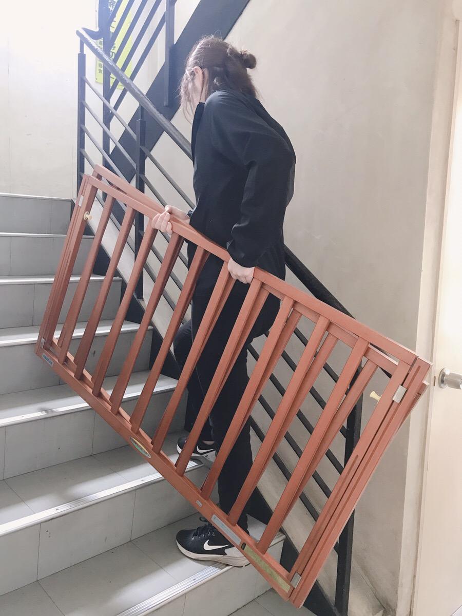 ベビーベッド 階段