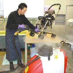 高温スチーム洗浄