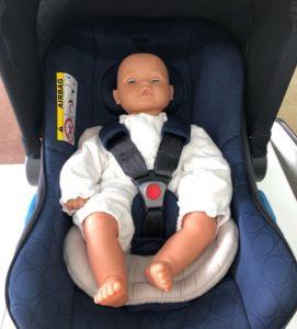 赤ちゃんを乗せる
