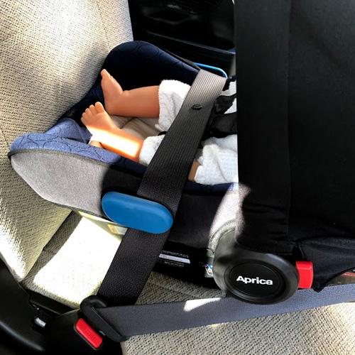 シートベルト固定のポイント