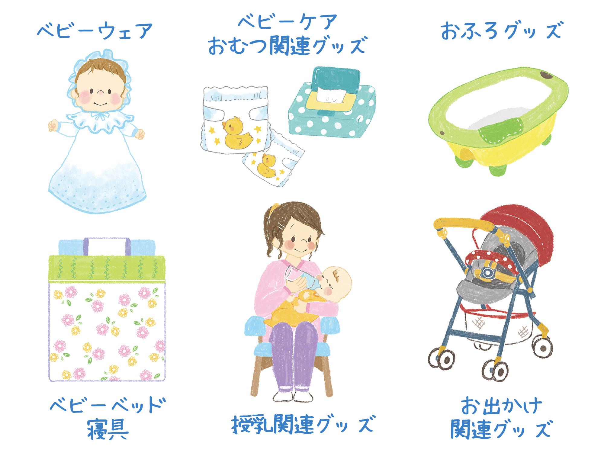 出産準備リストカテゴリ