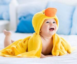 赤ちゃん用バスローブ