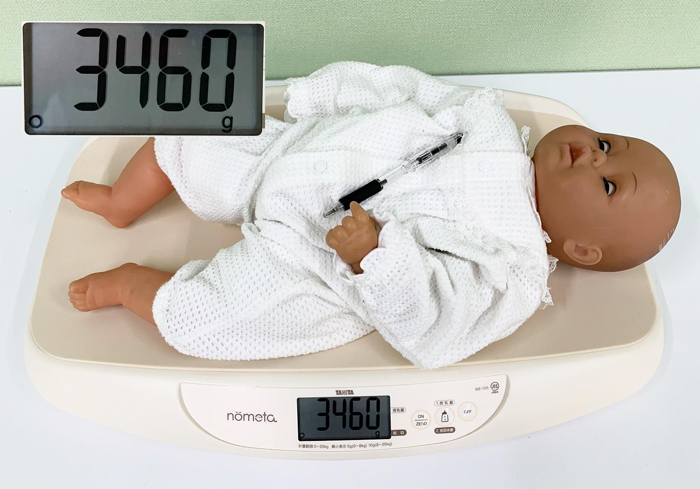 授乳後の赤ちゃんの体重