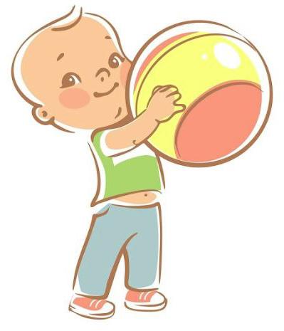イラストボール遊び
