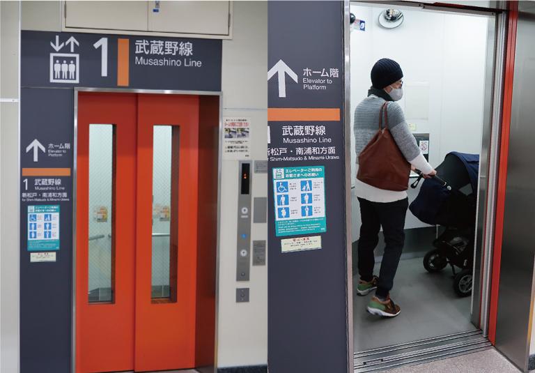 駅ではエレベーターを使おう