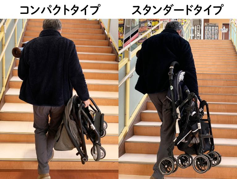 階段 ベビーカー